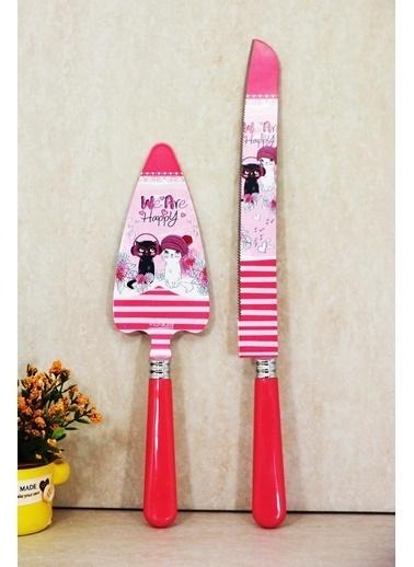 Kitchen Love 2Li Desenli Spatula/Bıçak Servis Seti Renkli